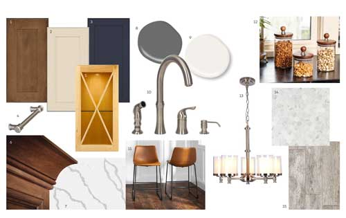 Transitional Style Board - Medium Tones